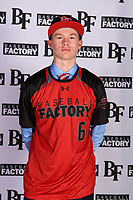 Chayce Meade (6) of Johnson Central High School in Staffordsville, Kentucky during the Baseball Factory All-America Pre-Season Tournament, powered by Under Armour, on January 12, 2018 at Sloan Park Complex in Mesa, Arizona.  (Mike Janes/Four Seam Images)