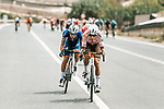 Clément Champoussin (FRA) AG2R Citroën Team and Mauri Vansevenant (BEL) Deceuninck-Quick Step in the breakaway during Stage 10 of La Vuelta d'Espana 2021, running 189km from Roquetas de Mar to Rincón de la Victoria, Spain. 24th August 2021.     <br /> Picture: Cxcling   Cyclefile<br /> <br /> All photos usage must carry mandatory copyright credit (© Cyclefile   Cxcling)