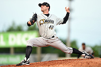 Omaha Storm Chasers pitcher Donnie Joseph (40) delivers a pitch during the first game of a double header against the Nashville Sounds on May 21, 2014 at Herschel Greer Stadium in Nashville, Tennessee.  Nashville defeated Omaha 5-4.  (Mike Janes/Four Seam Images)