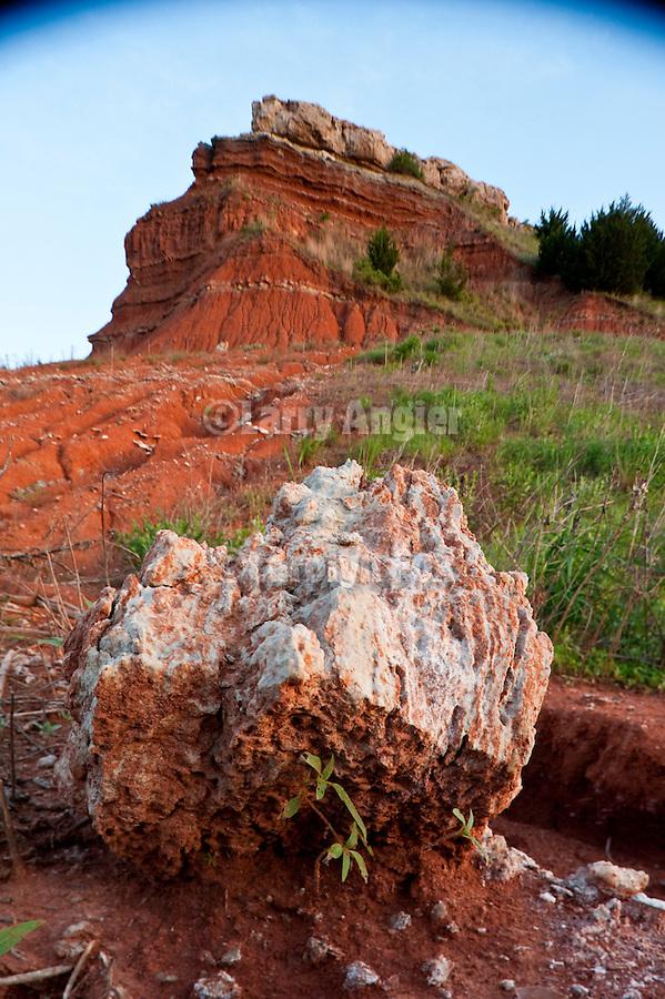 Glass (Gloss) Mountains in Okla., selenite boulder