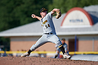West Virginia Black Bears starting pitcher Cody Smith (54) delivers a pitch during a game against the Batavia Muckdogs on July 1, 2018 at Dwyer Stadium in Batavia, New York.  Batavia defeated West Virginia 8-4.  (Mike Janes/Four Seam Images)