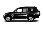 Car Driver side profile view of a 2016 Mitsubishi Pajero Instyle 5 Door Suv Side View