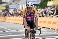 Tim Merlier (BEL/Alpecin-Fenix) finishing the first stage after having crashed hard 7 kilometers before<br /> <br /> Stage 1 from Brest to Landerneau (198km)<br /> 108th Tour de France 2021 (2.UWT)<br /> <br /> ©kramon