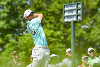 5th June 2021; Dublin, Ohio, USA; Aaron Wise (USA) watches his tee shot on 1 during the Memorial Tournament Rd3 at Muirfield Village Golf Club on June 5, 2021 in Dublin, Ohio.