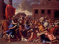The Abduction of the Sabine Women (1633-34), by Nicolas Poussin (1594–1665). Oil on canvas, The Metropolitan Museum of Art, New York.
