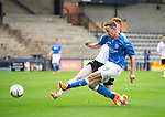 Raith Rovers v St Johnstone...12.07.14  Pre-Season Friendly<br /> Steven MacLean's shot is deflected wide by David Bates<br /> Picture by Graeme Hart.<br /> Copyright Perthshire Picture Agency<br /> Tel: 01738 623350  Mobile: 07990 594431