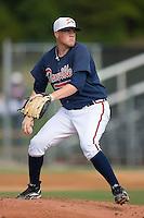 Starting pitcher David Francis (20) of the Danville Braves in action at Dan Daniels Park in Danville, VA, Sunday July 27, 2008.