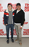 """Jesse Eisenberg and Scott Elliott attends the first day of rehearsal for the New Group's production of """"Happy Talk"""" at The New 42nd Street Studios on April 1, 2019 in New York City."""