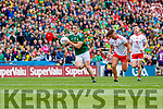 Stephen O'Brien, Kerry in action against Michael McKernan, Tyrone during the All Ireland Senior Football Semi Final between Kerry and Tyrone at Croke Park, Dublin on Sunday.