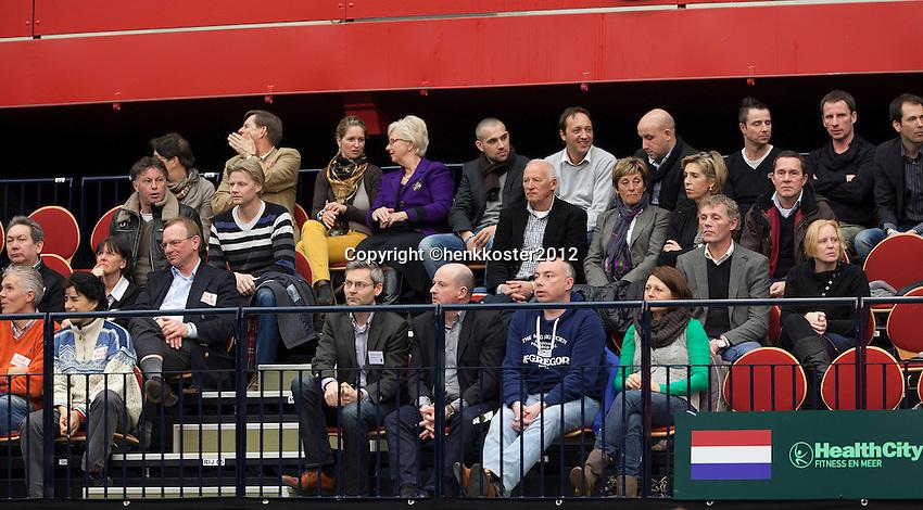 10-02-12, Netherlands,Tennis, Den Bosch, Daviscup Netherlands-Finland, Vip tribune