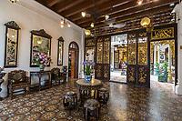 Peranakan Mansion, Ladies' Room, Looking toward inner courtyard, George Town, Penang, Malaysia.