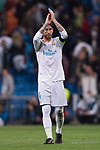 Sergio Ramos of Real Madrid gestures after the UEFA Champions League 2017-18 match between Real Madrid and Tottenham Hotspur FC at Estadio Santiago Bernabeu on 17 October 2017 in Madrid, Spain. Photo by Diego Gonzalez / Power Sport Images