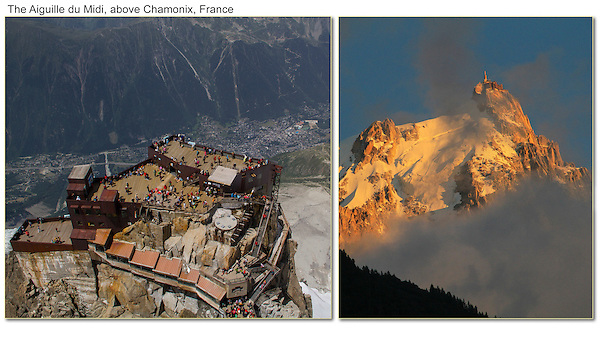 France, Chamonix.  <br /> When it comes to landscapes, a mountain's summit should be above the clouds, not hidden by them. The Aiguille du Midi, Chamonix, French Alps.