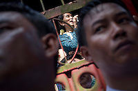 Myanmar's newly-released opposition leader Aung San Suu Kyi delivers a speech to thousands of supporters at her National League for Democracy (NLD) headquarters in Rangoon. From 1990 until her release on 13 November 2010, Aung San Suu Kyi had spent almost 15 of the 21 years under house arrest.