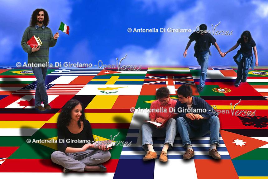 Società.Society.Progetto Erasmus. Erasmus Project.......