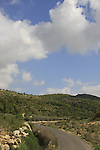 Israel, Upper Galilee. The road between the Druze villages Horpish and Beth Jan .