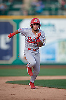 Peoria Chiefs Edwin Figuera (12) running the bases during a Midwest League game against the Fort Wayne TinCaps on July 17, 2019 at Parkview Field in Fort Wayne, Indiana.  Fort Wayne defeated Peoria 6-2.  (Mike Janes/Four Seam Images)