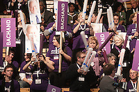 March 17,  2013 File Photo -Raymond Bachand and supporters at the  Liberal Party of Quebec's leadership convention. Bachand lost to Philippe Couillard who was elected as new leader.