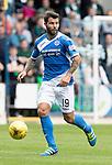 St Johnstone v Celtic…20.08.16..  McDiarmid Park  SPFL<br />Richie Foster<br />Picture by Graeme Hart.<br />Copyright Perthshire Picture Agency<br />Tel: 01738 623350  Mobile: 07990 594431