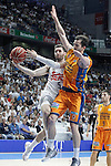 Real Madrid's Rudy Fernandez (l) and Valencia BC's Pau Ribas during Liga Endesa ACB 1st Semifinal match. June 4,2015. (ALTERPHOTOS/Acero)