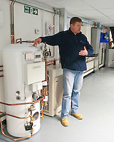 Tutor in the renewables section at the Able Skills Training Centre, Dartford, Kent.