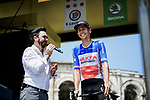 French Champion Warren Barguil (FRA) Arkea-Samsic at sign on before the start of Stage 16 of the 2019 Tour de France running 177km from Nimes to Nimes, France. 23rd July 2019.<br /> Picture: ASO/Pauline Ballet   Cyclefile<br /> All photos usage must carry mandatory copyright credit (© Cyclefile   ASO/Pauline Ballet)