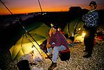 Sea Anglers competition Stokes Bay near  Gosport Hampshire. UK 1990s