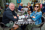 Enjoying the new outdoor dining at the Coast Cafe in Ballybunion on Sunday, l to r: Pat and Claire Herlihey.