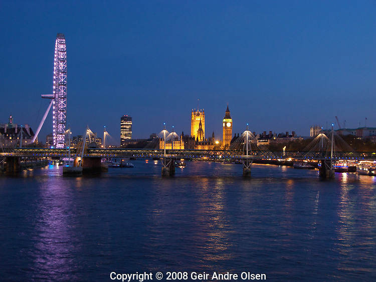London Eye, a famous landmark in London, UK, which gives an excellent view of the city