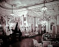 "Grand Salon at ""The Breakers"", Ochre Point, Newport, Rhode Island. Designed by Richard Morris Hunt. Beaux Arts style."