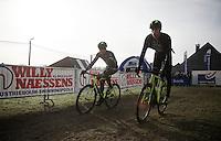 Sven Nys (BEL/Crelan-AAdrinks) & Sven Vanthourenhout (BEL/Crelan-AADrinks) at recon<br /> <br /> GP Sven Nys 2016