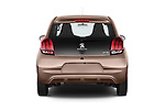 Straight rear view of a 2014 Peugeot 108 Allure 5 Door Micro Car 2WD Rear View  stock images