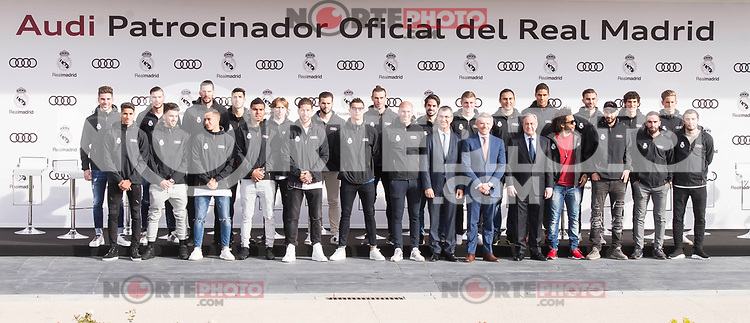 Real Madrid CF poses for a photograph after being presented with a new Audi car as part of an ongoing sponsorship deal with Real Madrid at their Ciudad Deportivo training grounds in Madrid, Spain. November 23, 2017. (ALTERPHOTOS/Borja B.Hojas) /NortePhoto.com NORTEPHOTOMEXICO