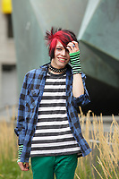 Montreal (QC) CANADA - July 26, 2012 - MODEL RELEASE photos of an androgynous adult teenager male