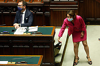 Minister of equal Opportunities Elena Bonetti during the Premier speech about the European Council at the Chamber of Deputies. Rome (Italy), July 22nd 2020<br /> Foto Samantha Zucchi Insidefoto