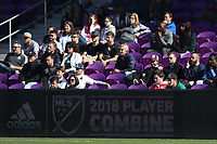 Orlando, Florida - Monday January 15, 2018: Signboard. Match Day 2 of the 2018 adidas MLS Player Combine was held Orlando City Stadium.