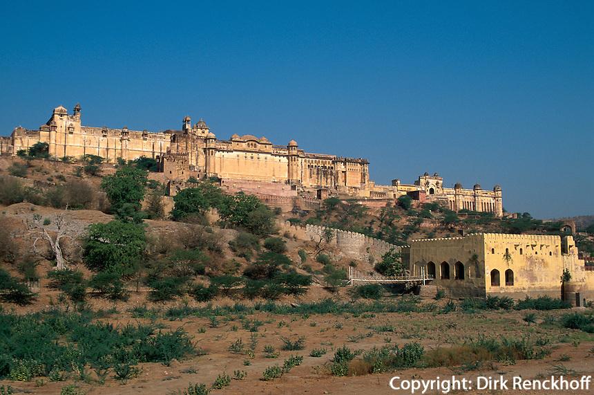 Indien, Festung Amber bei Jaipur, UNESCO-Weltkulturerbe