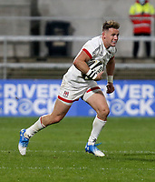 Friday 2nd October 2020 | Ulster Rugby vs Benetton Rugby<br /> <br /> Craig Gilroy on the attack during the PRO14 Round 1 clash between Ulster Rugby and Benetton Rugby at Kingspan Stadium, Ravenhill Park, Belfast, Northern Ireland. Photo by John Dickson / Dicksondigital