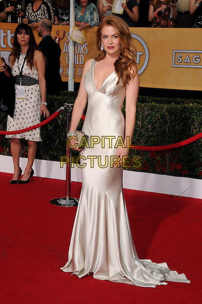 18 January 2014 - Los Angeles, California - Isla Fisher. 20th Annual Screen Actors Guild Awards - Arrivals held at The Shrine Auditorium. Photo Credit: Byron Purvis/AdMedia<br /> CAP/ADM/BP<br /> ©Byron Purvis/AdMedia/Capital Pictures