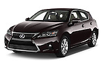 2015 Lexus CT Executive 5 Door Hatchback 2WD Angular Front stock photos of front three quarter view