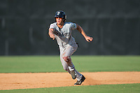Blake Rutherford (21) of the Pulaski Yankees takes off for third base during the game against the Danville Braves at American Legion Post 325 Field on July 31, 2016 in Danville, Virginia.  The Yankees defeated the Braves 8-3.  (Brian Westerholt/Four Seam Images)