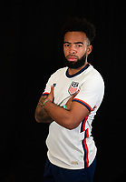 Eryck Williamson during a portrait studio session for the U23 Olympic Qualifying team 2021.