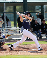 Xander Hamilton takes part in the 2019 Under Armour Pre-Season All-America Tournament at the Chicago Cubs and Oakland Athletics training complexes on January 19-20, 2019 in Mesa, Arizona (Bill Mitchell)