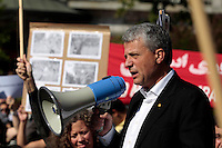 Politician Dagfinn Høybråten speak during a demonstration in Oslo, Norway, following the election in Iran. A protest arranged by Amnesty International Norway was held in front of the Norwegian Parliament, before Iranian diaspora and others marched to the Iranian embassy to continue their protest. .©Fredrik Naumann/Felix Features.