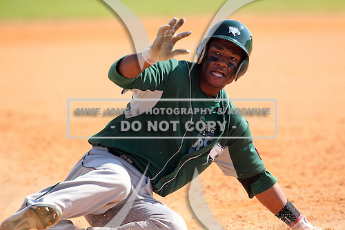 Chicago State Cougars William Hill #11 during a game vs Long Island at Lake Myrtle Main Field in Auburndale, Florida;  March 16, 2011.  Long Island defeated Chicago State 9-8.  Photo By Mike Janes/Four Seam Images