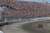2017 Monster Energy NASCAR Cup Series - Kobalt 400<br /> Las Vegas Motor Speedway - Las Vegas, NV USA<br /> Sunday 12 March 2017<br /> Martin Truex Jr, Bass Pro Shops/TRACKER BOATS Toyota Camry drives under the checkered flag to win<br /> World Copyright: Russell LaBounty/LAT Images<br /> ref: Digital Image 17LAS1rl_5723
