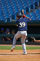 Jackson Jobe (39) of Heritage Hall in Oklahoma City, OK playing for the Milwaukee Brewers scout team during the East Coast Pro Showcase at the Hoover Met Complex on August 2, 2020 in Hoover, AL. (Brian Westerholt/Four Seam Images)