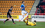 St Johnstone v Hamilton Accies…19.01.19…   McDiarmid Park    Scottish Cup 4th Round<br />Tony Watt scores saints second goal<br />Picture by Graeme Hart. <br />Copyright Perthshire Picture Agency<br />Tel: 01738 623350  Mobile: 07990 594431