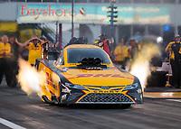 Apr 12, 2019; Baytown, TX, USA; NHRA funny car driver J.R. Todd during qualifying for the Springnationals at Houston Raceway Park. Mandatory Credit: Mark J. Rebilas-USA TODAY Sports