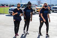 HERRIMAN, UT - JULY 4: Utah Royals FC players arrive at the field during a game between Sky Blue FC and Utah Royals FC at Zions Bank Stadium on July 4, 2020 in Herriman, Utah.